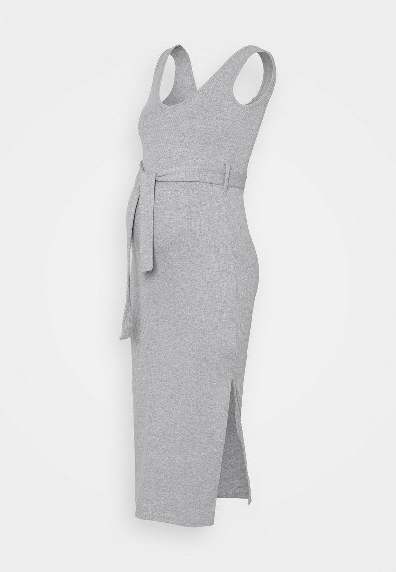 Missguided Maternity - SIDESPLIT DRSS - Maxi dress - grey