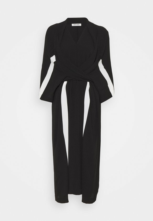 TIME DRESS - Robe d'été - black/white