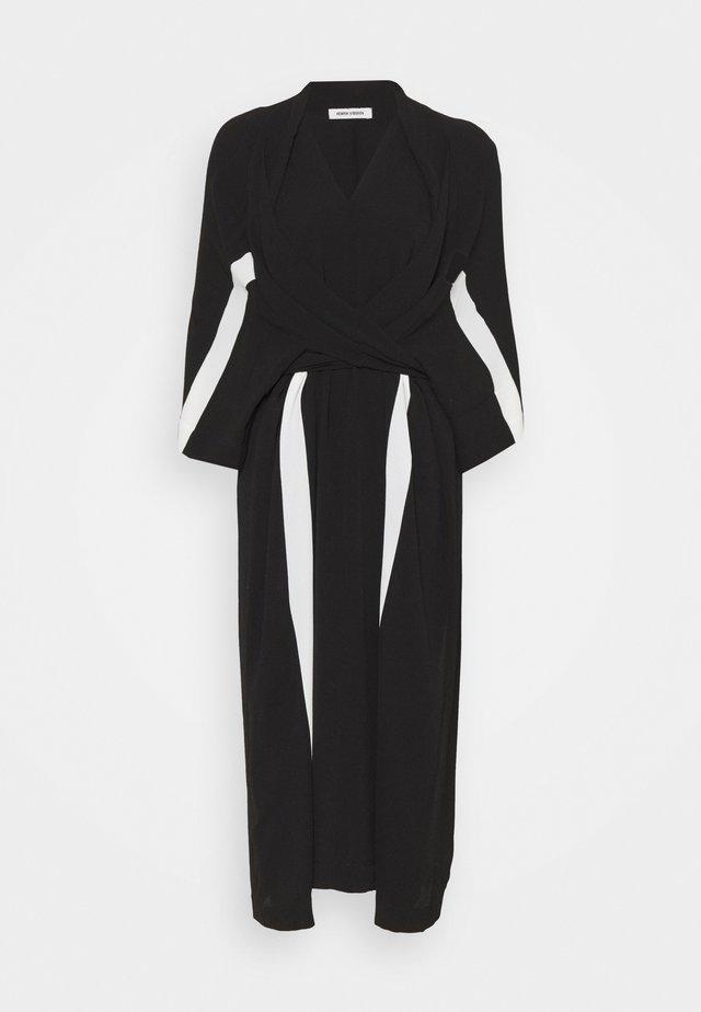 TIME DRESS - Korte jurk - black/white