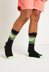 adidas Performance - ASK SPORTBLOCK - Urheilusukat - black/green - 0