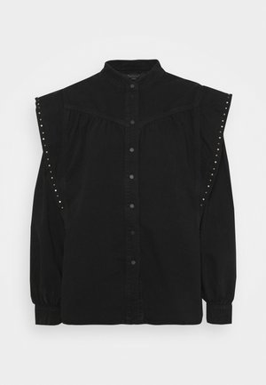 MAVA STUDDED SHIRT - Button-down blouse - black
