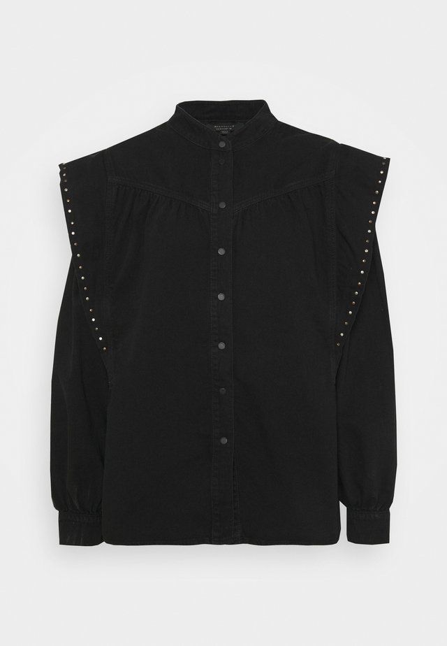 MAVA STUDDED SHIRT - Overhemdblouse - black