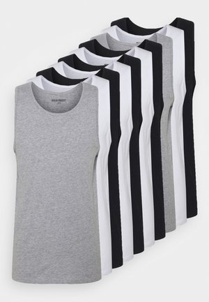 10 PACK - Top - black/white/light grey melange