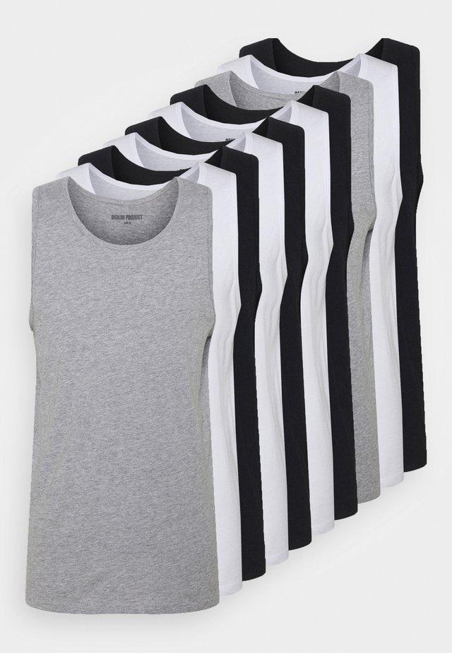 10 PACK - Débardeur - black/white/light grey melange