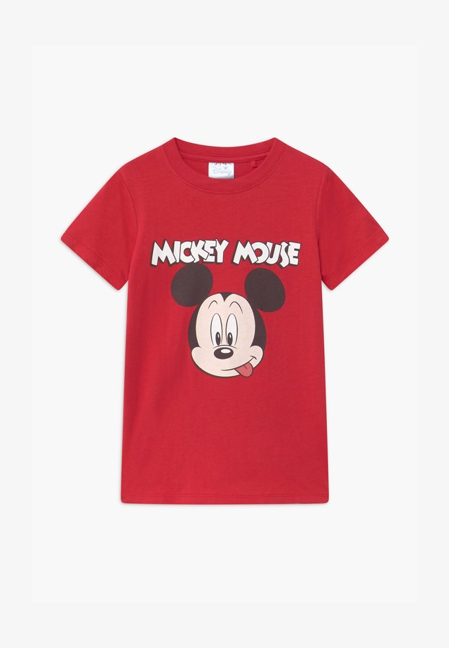 DISNEY MICKEY MOUSE SHORT SLEEVE LICENSE - T-shirts print - red