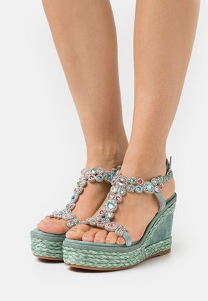 Plateausandalette - mint