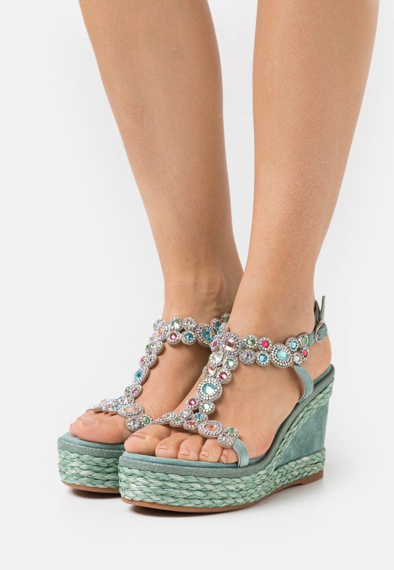 Alma en Pena - Platform sandals - mint