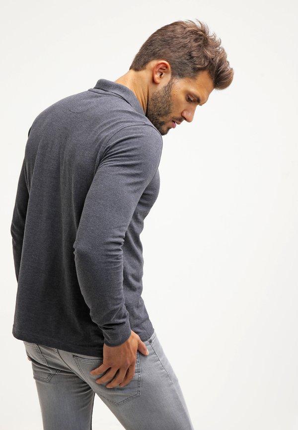 Pier One Koszulka polo - dark grey melange/ciemnoszary melanż Odzież Męska SLCL