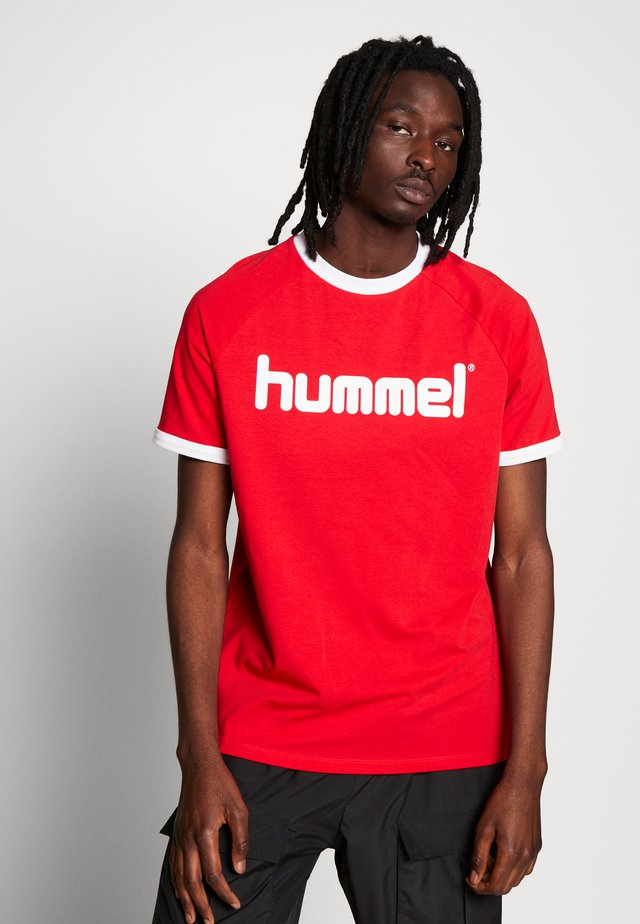 HMLBAY - T-shirt imprimé - true red