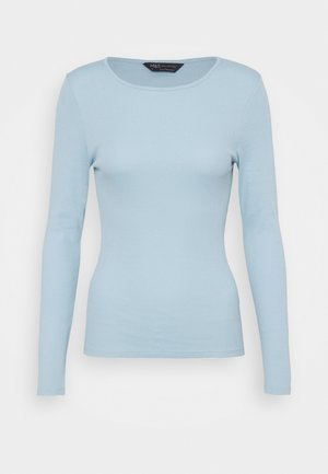 FITTED - Langærmede T-shirts - light blue