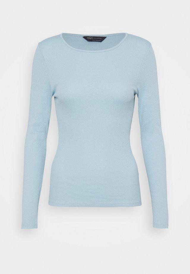 FITTED - Top sdlouhým rukávem - light blue