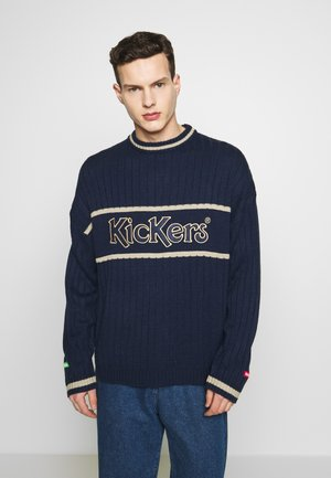 WIDE - Sweter - navy/ beige