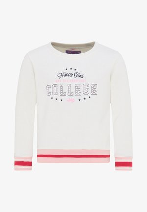 Sweatshirt - wollweiss rosa