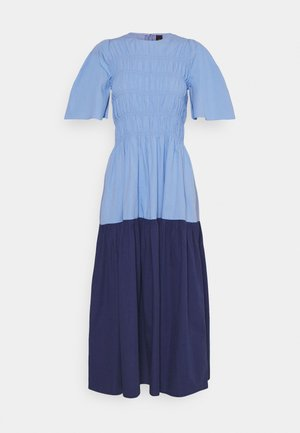 YASMARVIS LONG DRESS  - Maksimekko - cornflower blue/blue block