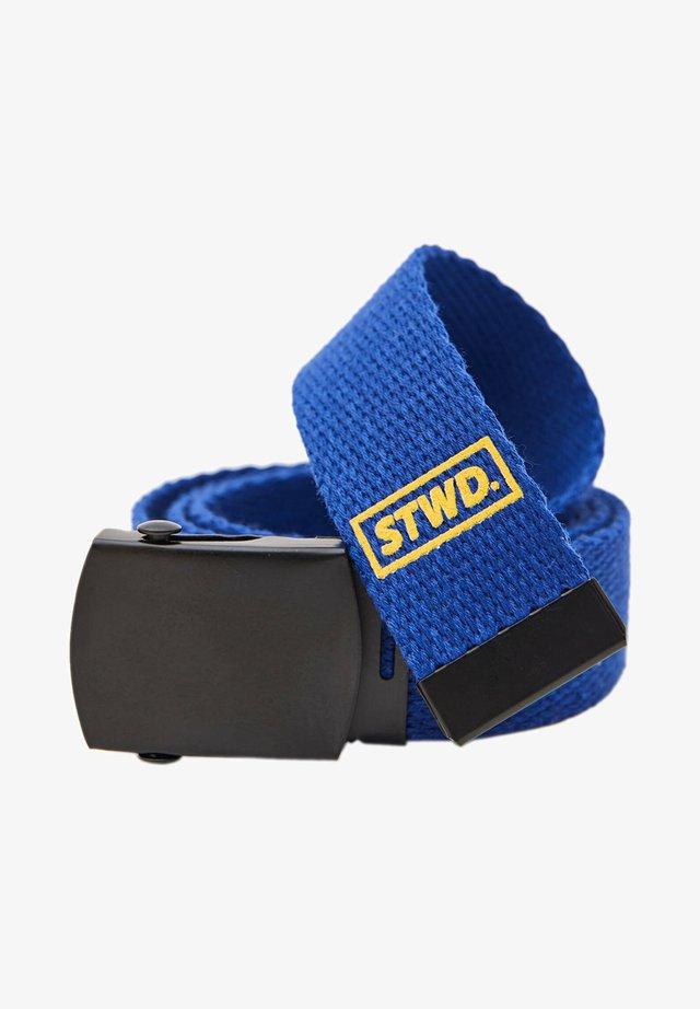 Pletený pásek - blue