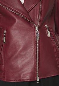Steffen Schraut - RANCHERA LUXURY BIKER JACKET - Leather jacket - cranberry - 5