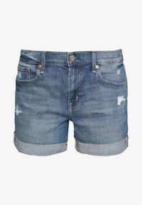 GAP - MED CINCA DEST - Denim shorts - medium indigo - 3