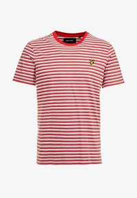 Lyle & Scott - STRIPE - T-shirt con stampa - red - 3