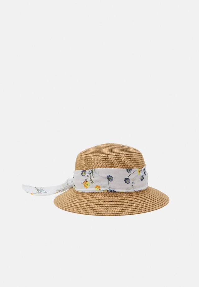 Chapeau - tan/white