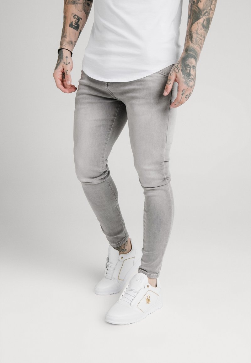 SIKSILK - SKINNY  - Jeans Skinny Fit - washed grey