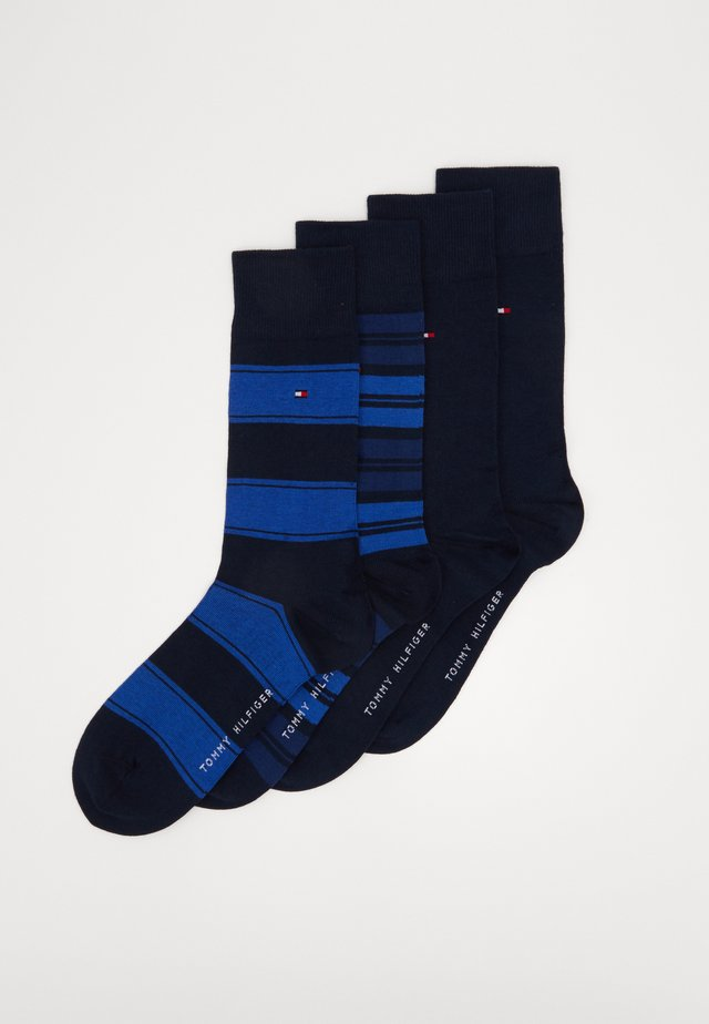 SOCK STRIPE GIFTBOX 4 PACK - Socks - dark navy