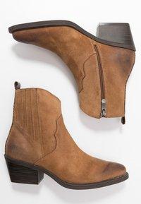 Marco Tozzi - Cowboy/biker ankle boot - camel - 3