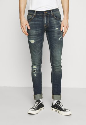 TIGHT TERRY - Slim fit jeans - dark blue denim