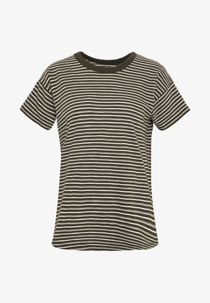 SORREL WHISPER CREWNECK TEE STRIPE - T-shirts med print - sydney stripe dried olive