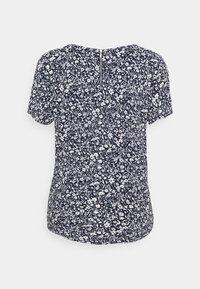 TOM TAILOR DENIM - FEMININE WITH ZIPPER - Camiseta estampada - blue - 1
