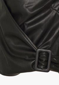 Who What Wear - CROPPED WRAP - Blouse - black - 2