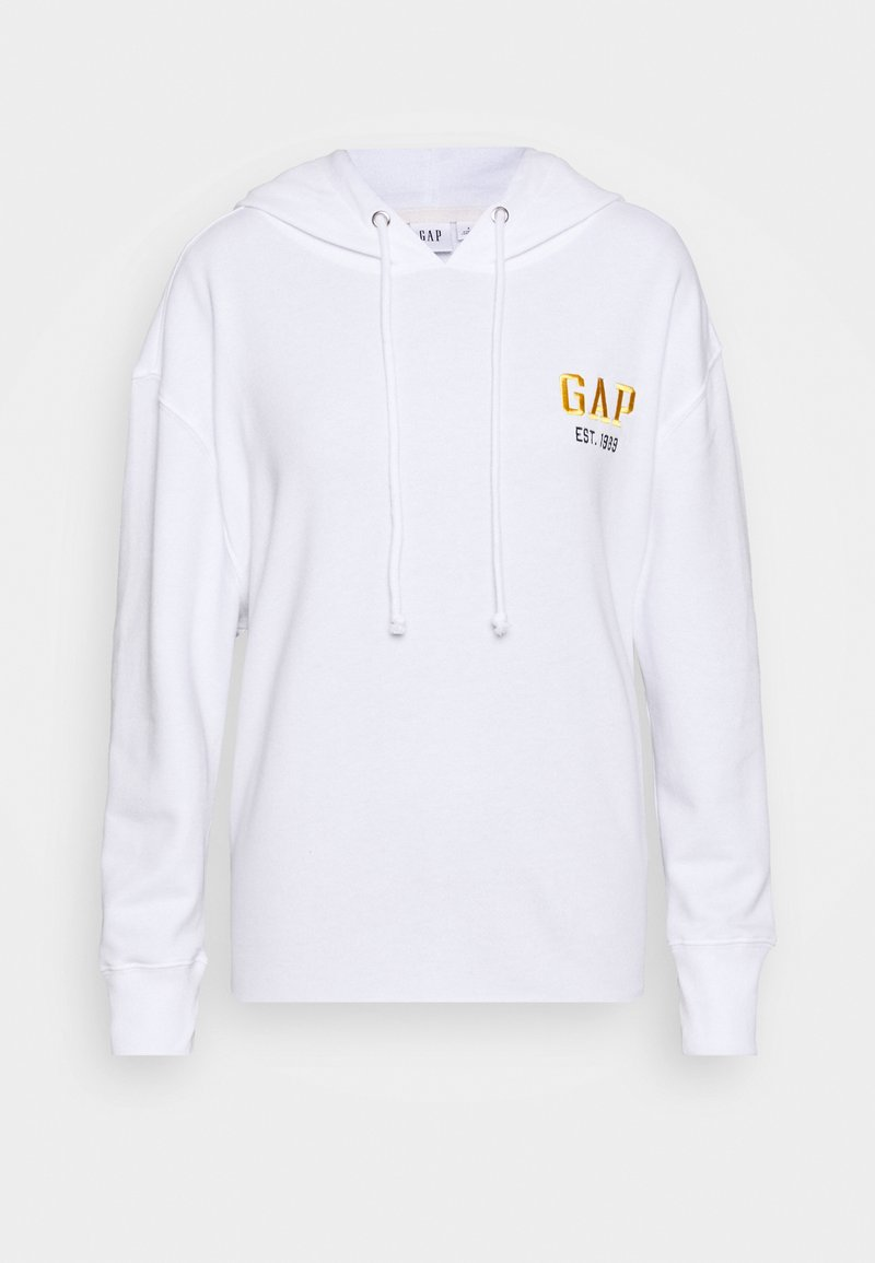 GAP - CHEST HIT - Jersey con capucha - white
