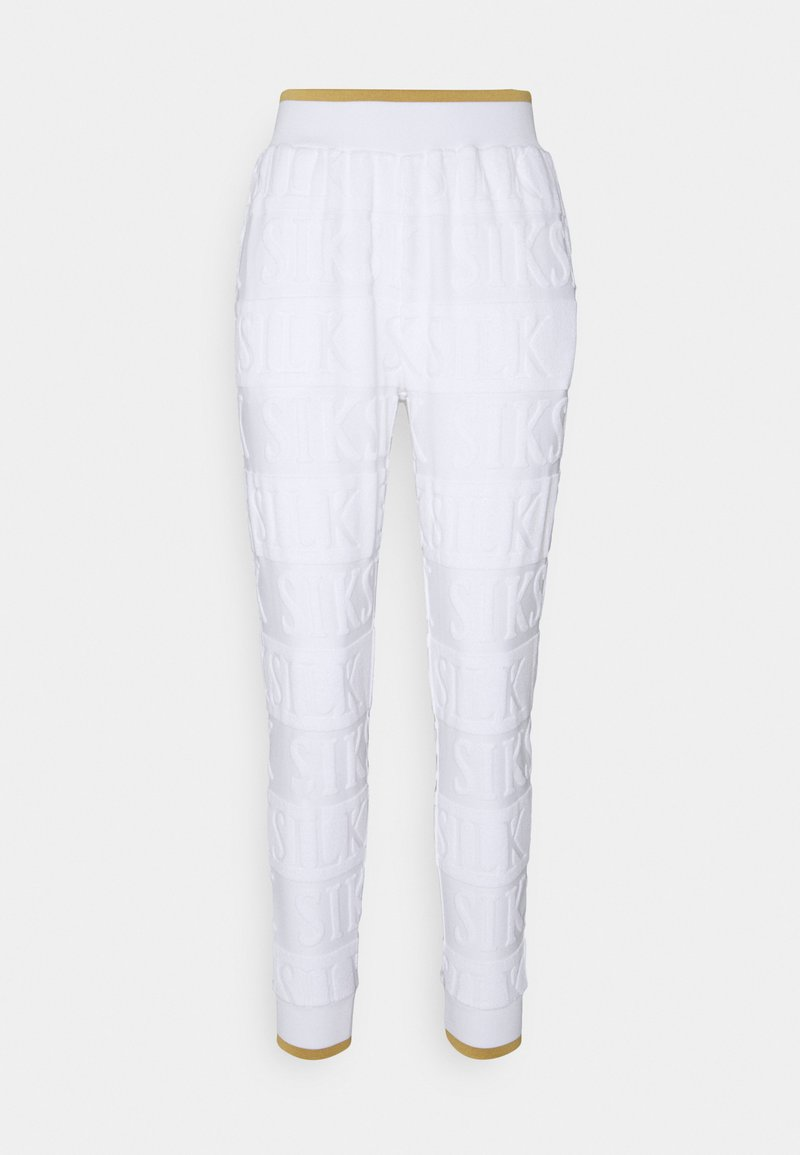 SIKSILK - INVERSE TRACK PANT - Tracksuit bottoms - whiite