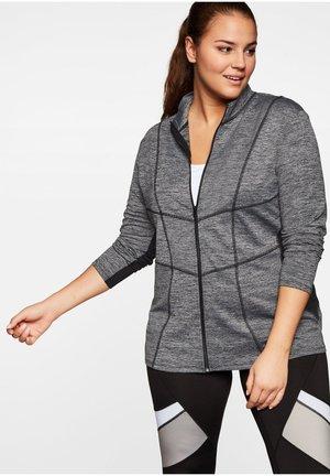 Zip-up hoodie - grau-schwarz