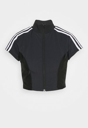 PAOLINA RUSSO ZIP COLLAB SPORTS INSPIRED SLIM CROPPED - Training jacket - black