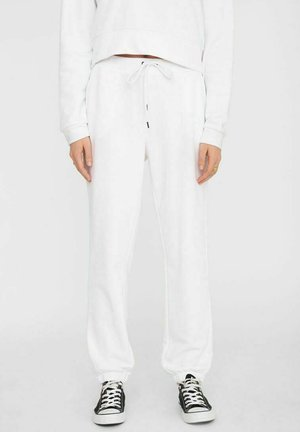 NMLUPA LOGO - Tracksuit bottoms - bright white