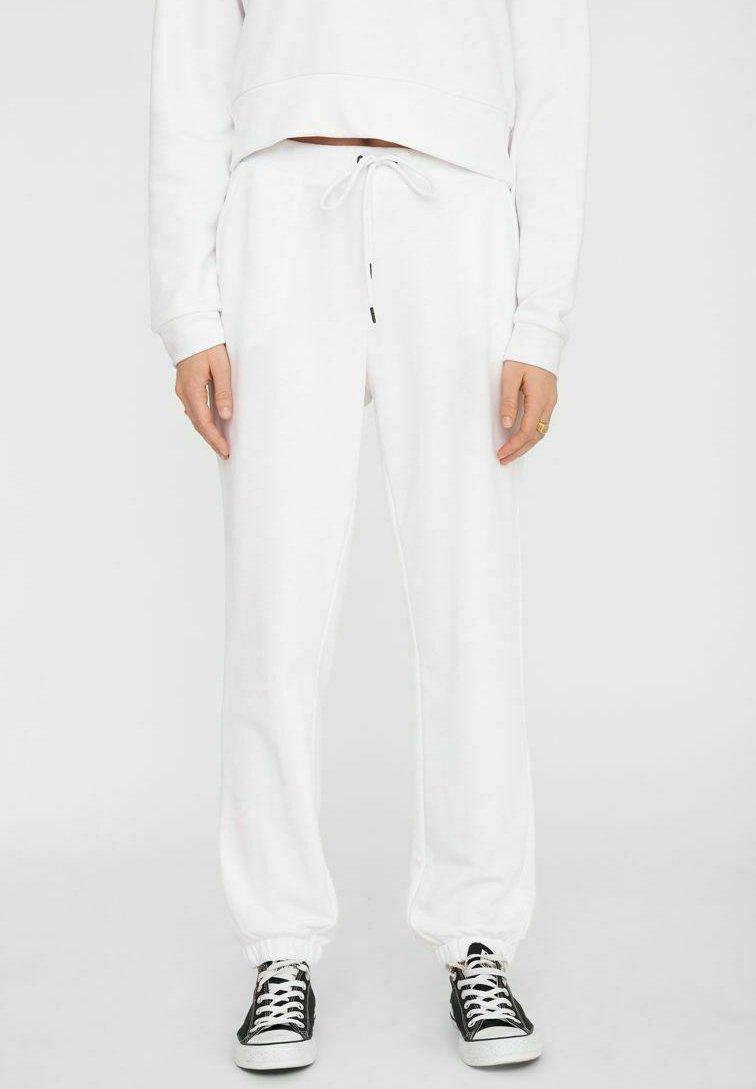 Noisy May - NMLUPA LOGO - Tracksuit bottoms - bright white