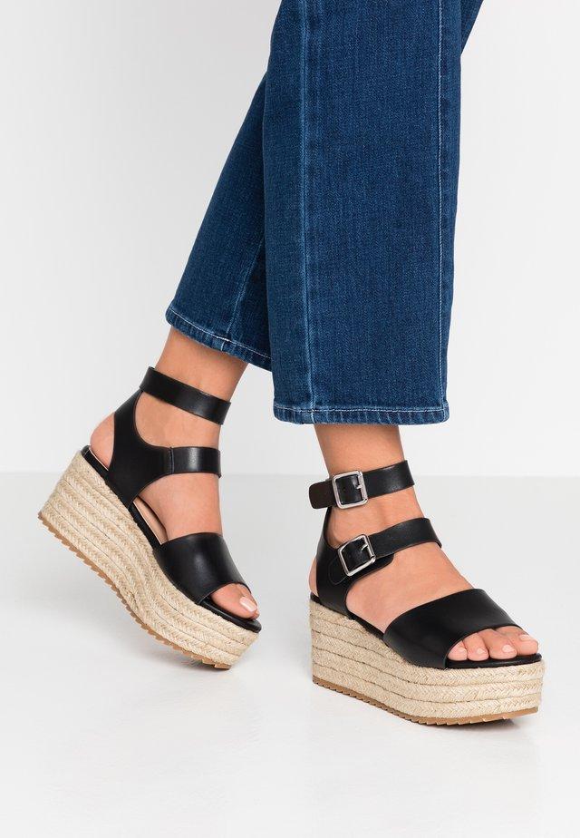 CAPRI - Platform sandals - black