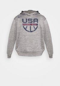 Nike Performance - TEAM USA SPOTLIGHT HOODIE - Sweatshirt - dark grey heather/dark grey - 3
