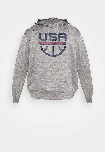 TEAM USA SPOTLIGHT HOODIE - Sudadera - dark grey heather/dark grey