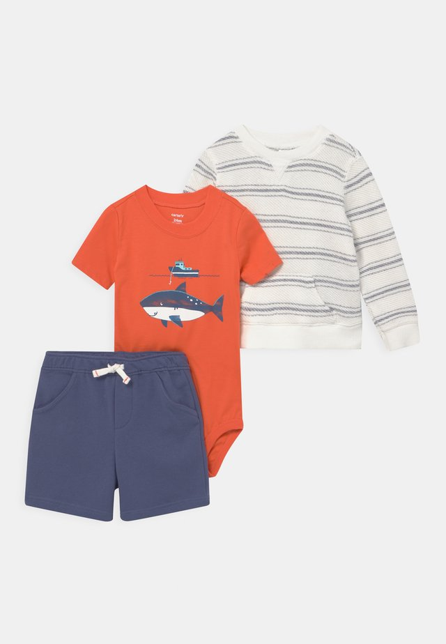 STRIPE SET - T-shirt med print - orange