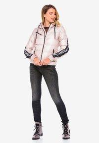 Cipo & Baxx - MIT WÄRMENDER KAPUZE - Winter jacket - pinksilver - 1