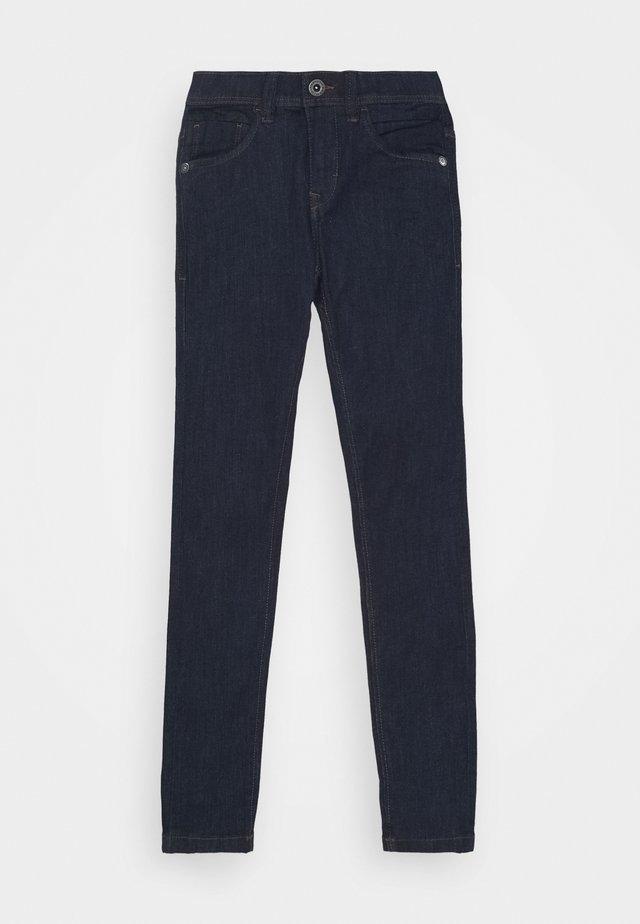 NLMPILOU PANT - Slim fit -farkut - dark blue denim