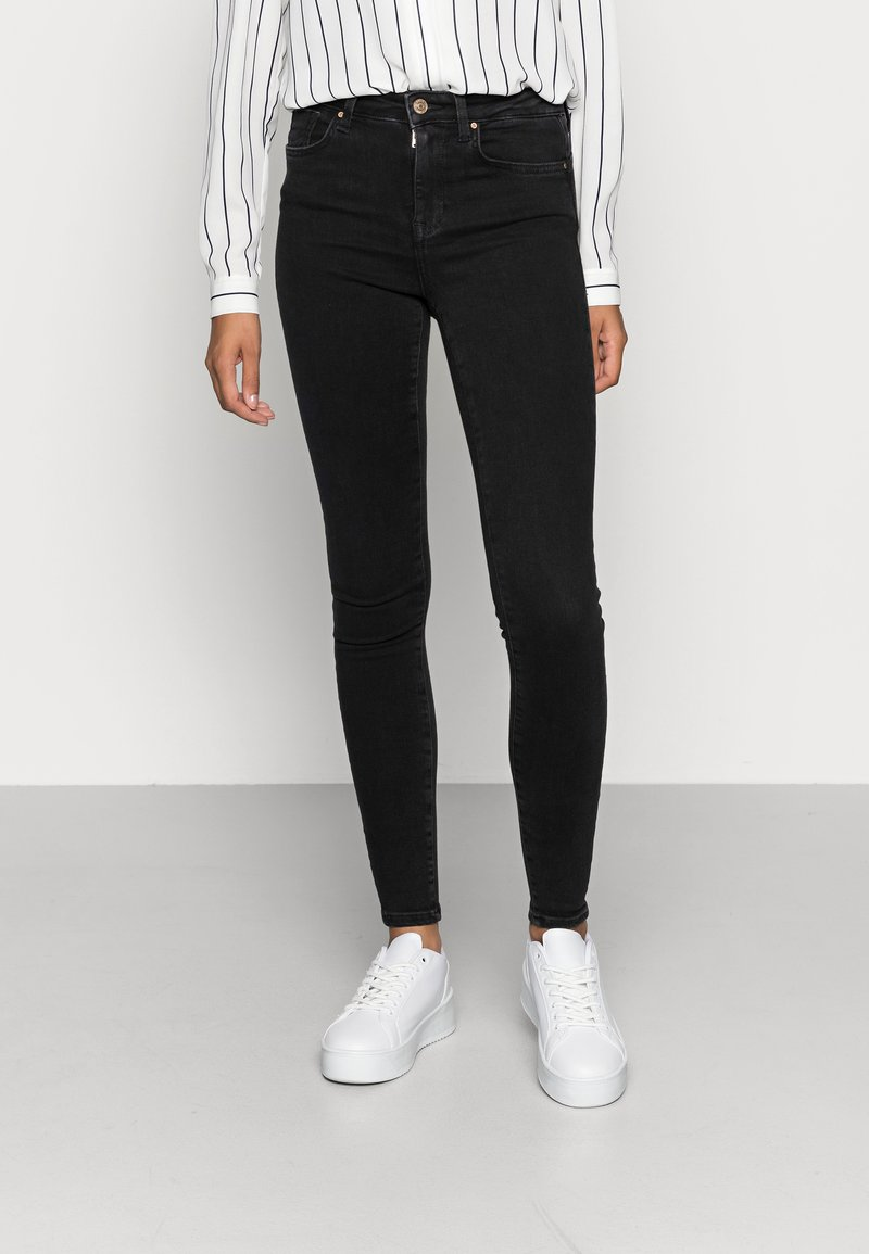 ONLY - ONLPOWER MID PUSH UP - Jeans Skinny Fit - black
