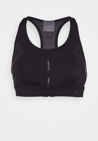 Puma - HIGH IMPACT FRONT ZIP BRA - High support sports bra - black - 3