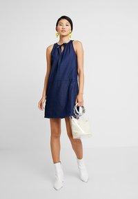Q/S designed by - Denim dress - dark blue denim - 1