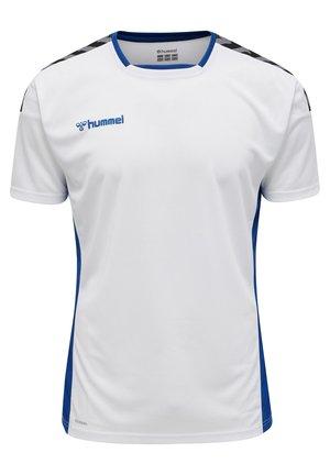 HMLAUTHENTIC - T-shirt print - white/true blue