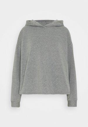JDYLUCI LIFE HOOD - Hoodie - medium grey melange