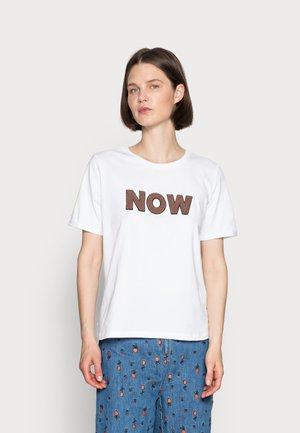 SLEEVE - Print T-shirt - white