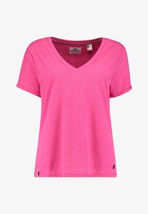 Basic T-shirt - pink peacock