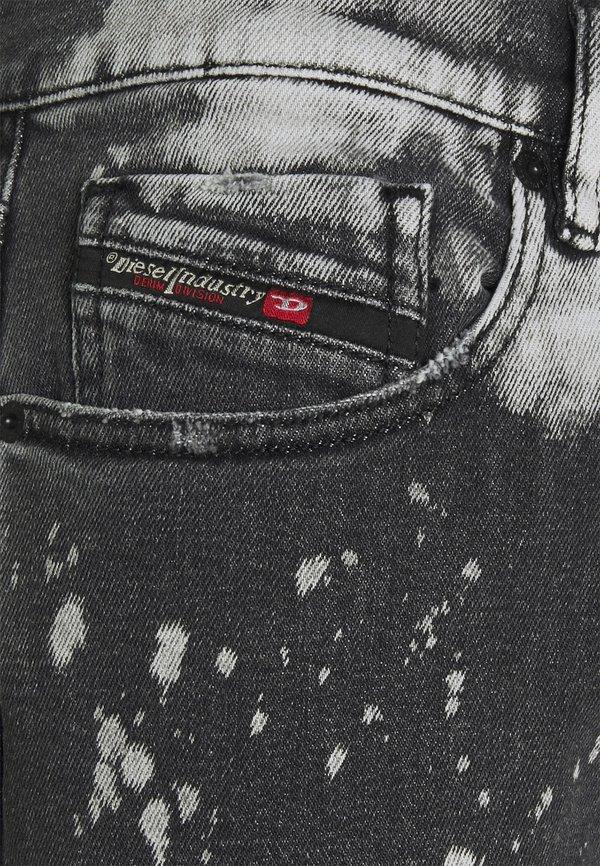 Diesel Jeansy Slim Fit - black/white/czarny denim Odzież Męska YSOQ